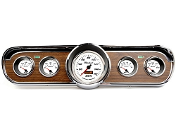 1966 Mustang Deluxe Comp II Bright White Sport 5-Gauge Instrument Set