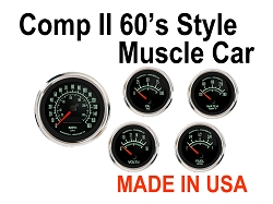 COMP II 60's Muscle Car Style 5 Gauge Set