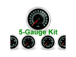 High Performance SCX 1960's Muscle Car 5-Gauge Kit