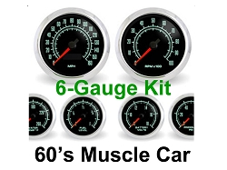 High Performance SCX 1960's Muscle Car 6-Gauge Kit